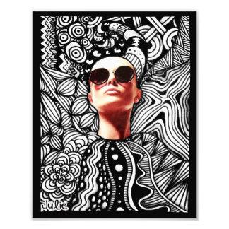 Fashion Zentangle Photo Print