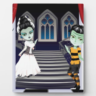 Fashion Zombie Couple near Stairs2 Plaques