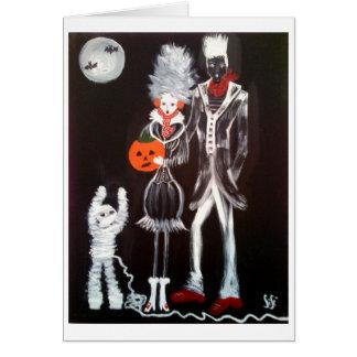 Fashion Zombies Halloween Card