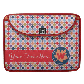 Fashionable Autumn Fall Geometric Pattern Monogram Sleeve For MacBook Pro
