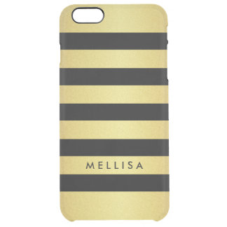 Fashionable Black and Gold Glitter Stripes