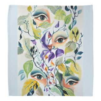 Fashionable chic painted  eyes bandana