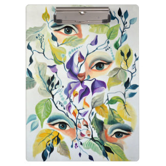 Fashionable chic painted  eyes clipboard
