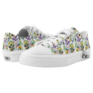 Fashionable chic painted  eyes low tops