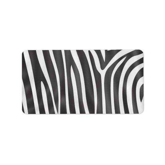 Fashionable elegant girly zebra pattern label