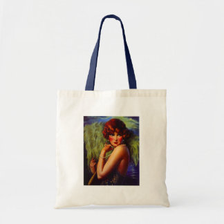 Fashionable Flapper Girl ~ Evening At the Beach Tote Bag