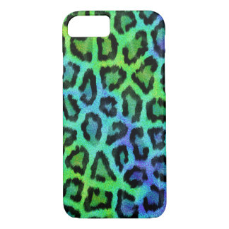 Fashionable green and blue Leopard Pattern iPhone 8/7 Case
