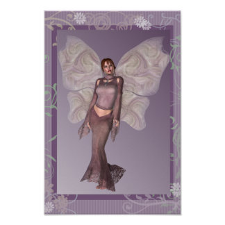Fashionable in Mauve Faerie Poster