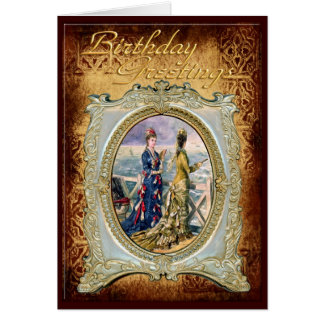 Fashionable Ladies in a Frame Birthday Card