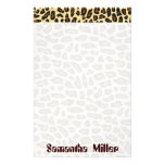 Fashionable Leopard Print personalised stationery