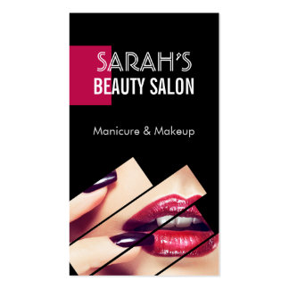 Fashionable Makeup Lips Beauty Salon Boutique Pack Of Standard Business Cards
