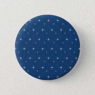 Fashionable Monaco Blue And Bright Stars Pattern 6 Cm Round Badge