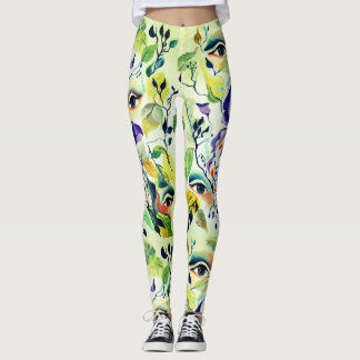 Fashionable painted  eyes leggings