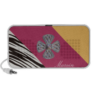 Fashionable Personalized Monogram. Your Text /Name iPod Speaker