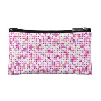 Fashionable Pink Blocks Cosmetic Bag