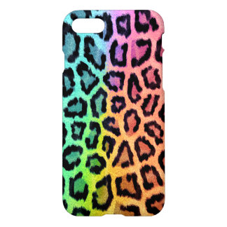 Fashionable Rainbow Leopard Pattern iPhone 7 Case