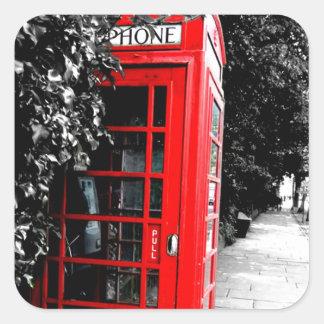 Fashionable Red London Postal Box Square Sticker