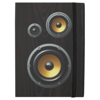 Fashionable Retro Wood Grain Speaker Trio