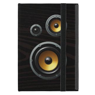Fashionable Retro Wood Grain Speaker Trio Case For iPad Mini