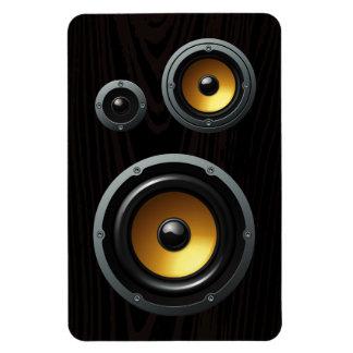 Fashionable Retro Wood Grain Speaker Trio Rectangular Magnet