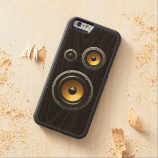 Fashionable Retro Wood Grain Speaker Trio Maple iPhone 6 Bumper Case