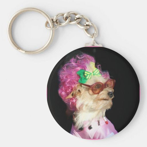 Fashionable Toy Mix Dog keychain