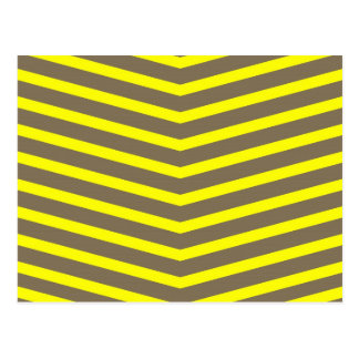 Fashionable Trendy Long Zig Zag Yellow Stripes Postcards