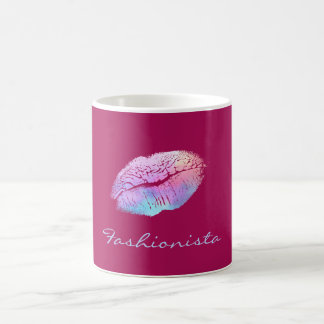 Fashionista Cotton Candy Color Lips Coffee Mug
