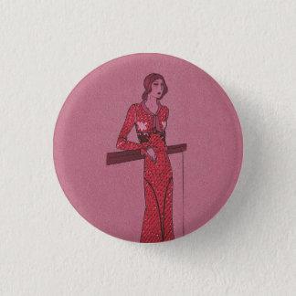 Fashionista Flapper  Illustration c1925 3 Cm Round Badge