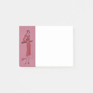 Fashionista Flapper  Illustration c1925 Post-it Notes