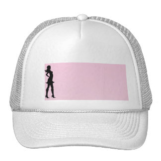 Fashionista in Pink and Grey Hat