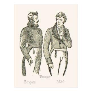 Fashions, Formal dress, 19th century Postcard