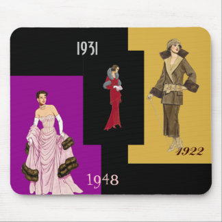 Fashions Mousepad 1922 to 1948