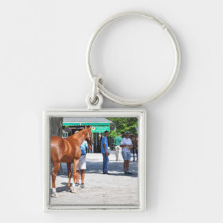 Fasig Tipton 16' Silver-Colored Square Key Ring