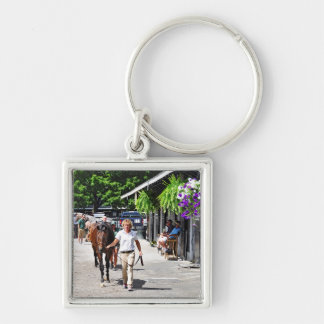 Fasig Tipton Select Sales Silver-Colored Square Key Ring