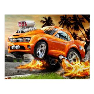Fast and Furious Cartoon Car Postcard