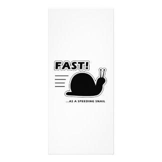 Fast as a speeding snail customized rack card