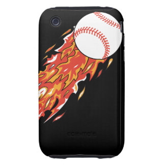 fast baseball on fire flames iPhone 3 tough covers