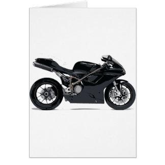 Fast Black Motorcycle Card