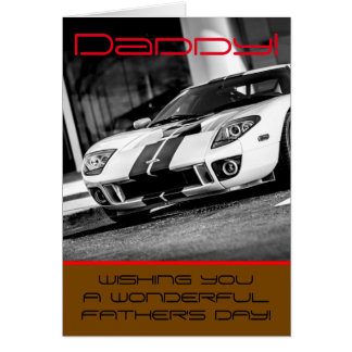 'Fast car' Father's day card