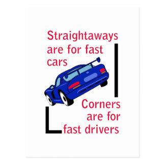 Fast Cars Postcard