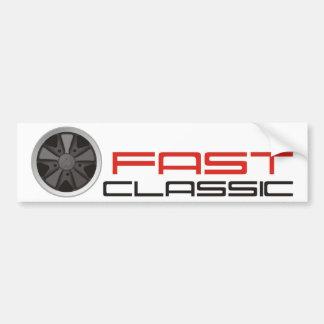 Fast classic car: Fuchs racing car wheel Bumper Sticker