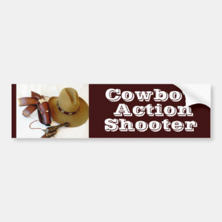 Fast Draw Cowboy Action Shooter Bumper Sticker