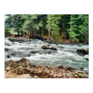 Fast flowing Lidder Postcard