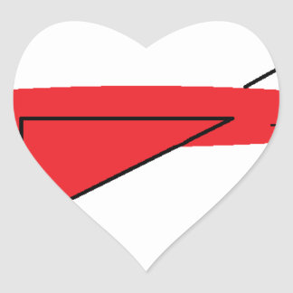 Fast-flying Flynn the Red Jet Airplane in Flight Heart Sticker