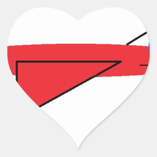 Fast-flying Flynn the Red Jet Airplane in Flight Sticker