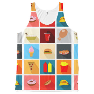 Fast Food All-Over Print Tank Top