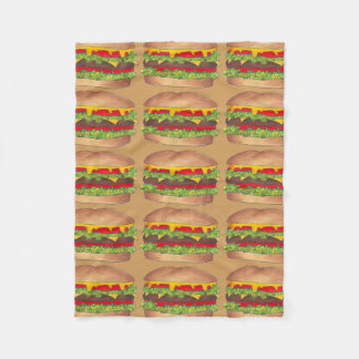 Fast Food Burger Hamburger Cheeseburger Blanket
