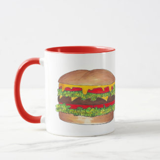 Fast Food Burger Hamburger Cheeseburger Bun Foodie Mug