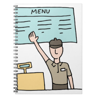 Fast Food Cashier Notebooks